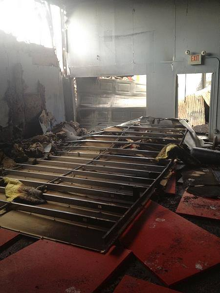 The fire in February 2013 ripped through Pesadelo BJJ. Photo: Personal archive
