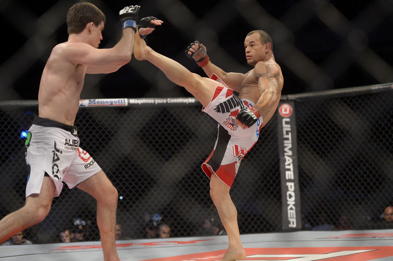 O potiguar é o recordista de lutas entre os brasileiros  no UFC. Foto: Divulgação/UFC
