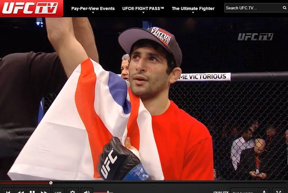 Black belt Beneil Dariush wins his UFC debut.