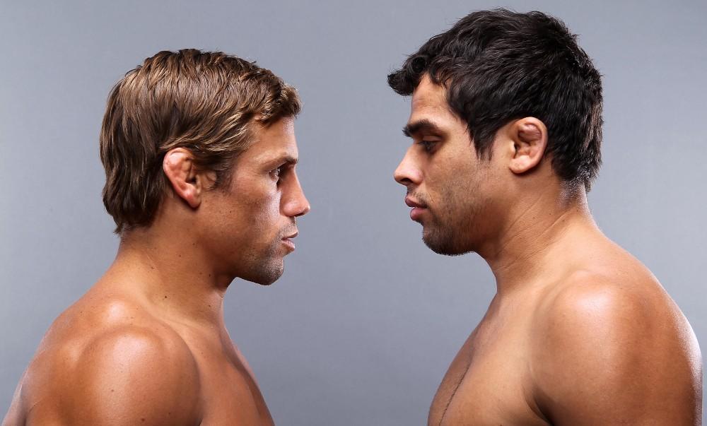Faber e Barão se reencontram neste sábado, na luta principal do UFC de Nova Jersey. Foto: Josh Hedges/UFC Divulgação