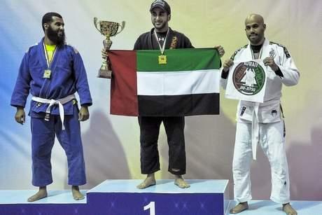 O Jiu-Jitsu segue cada vez mais popular nos Emirados, agora com um xeque campeão. Foto: Saeed Al Jenaibi/Divulgação