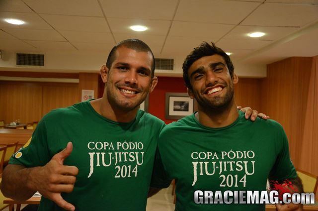 Rodolfo e Leandro Lo estão no mesmo grupo do GP dos Pesados da Copa Pódio. Foto: Vitor Freitas/ GRACIEMAG