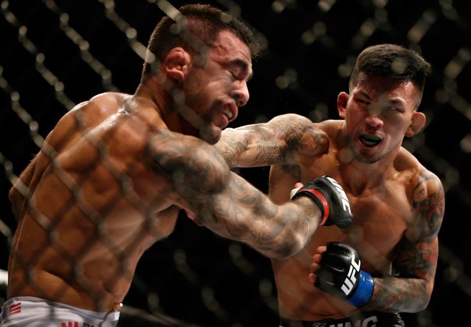 Russell Doane aplica soco em Leandro Brodinho. Foto: UFC/ Facebook