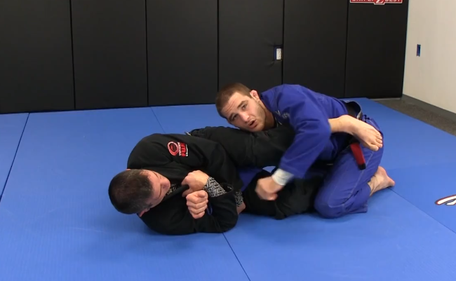 Video: Defend the armbar submission when turtled with Travis Stevens