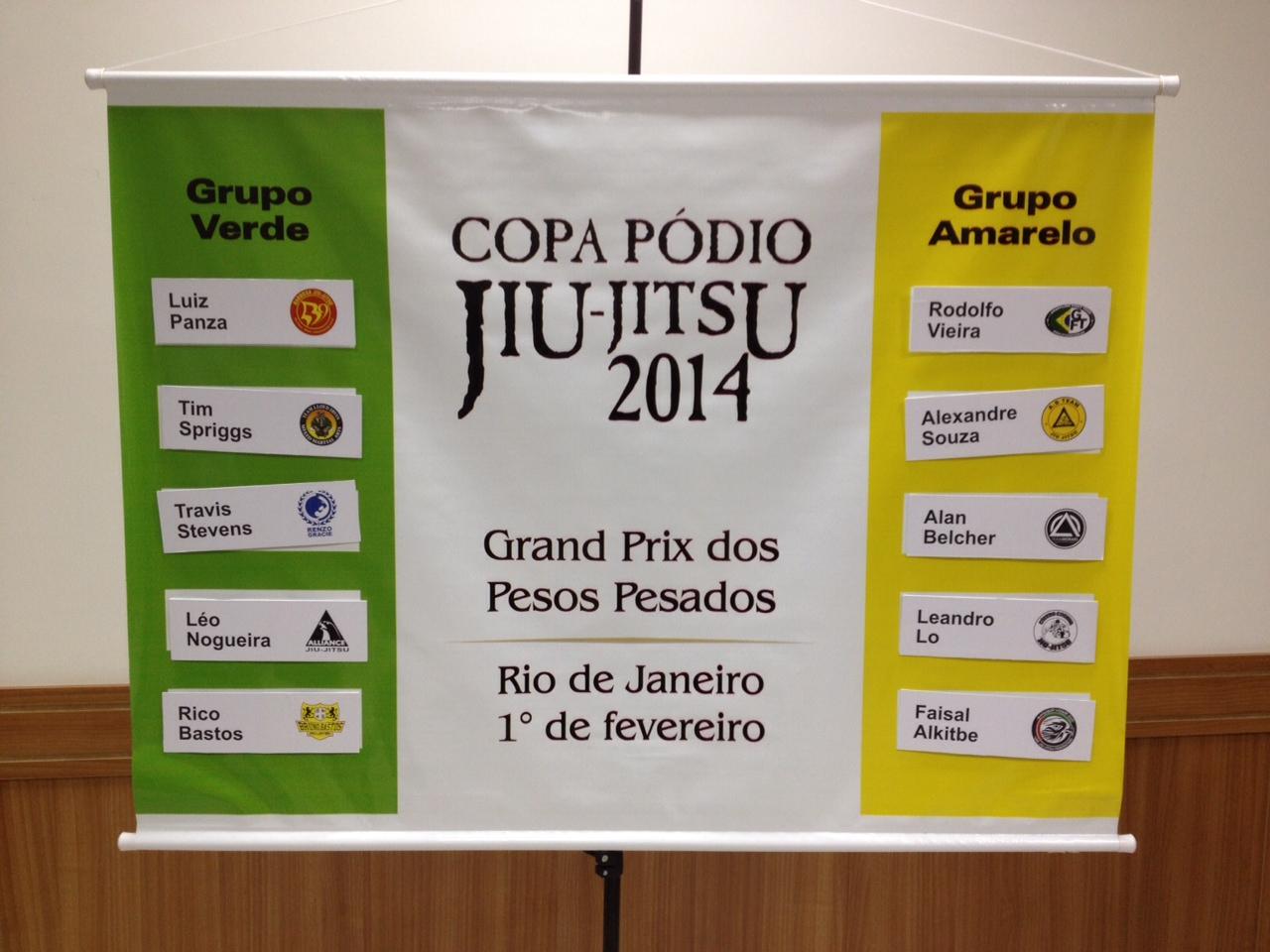 Os grupos do GP dos Pesados da Copa Pódio de Jiu-Jitsu em 2014. Foto: Gustavo Aragão