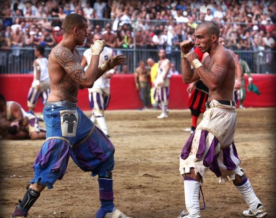 Think you're tough? Care for a traditional Calcio match in Italy?