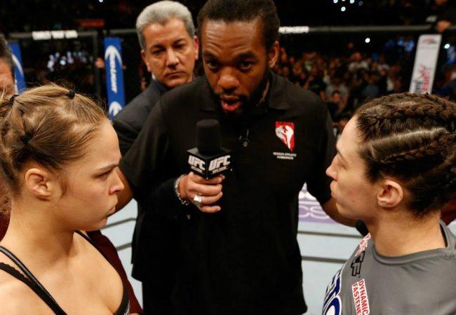 A interrupção de Herb Dean no combate Rousey x McMann no UFC 170