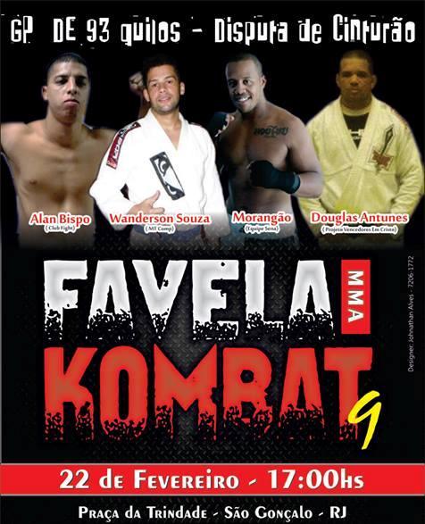 Nona edição do Favela Kombat terá GP de meio-pesados. Foto: Divulgação
