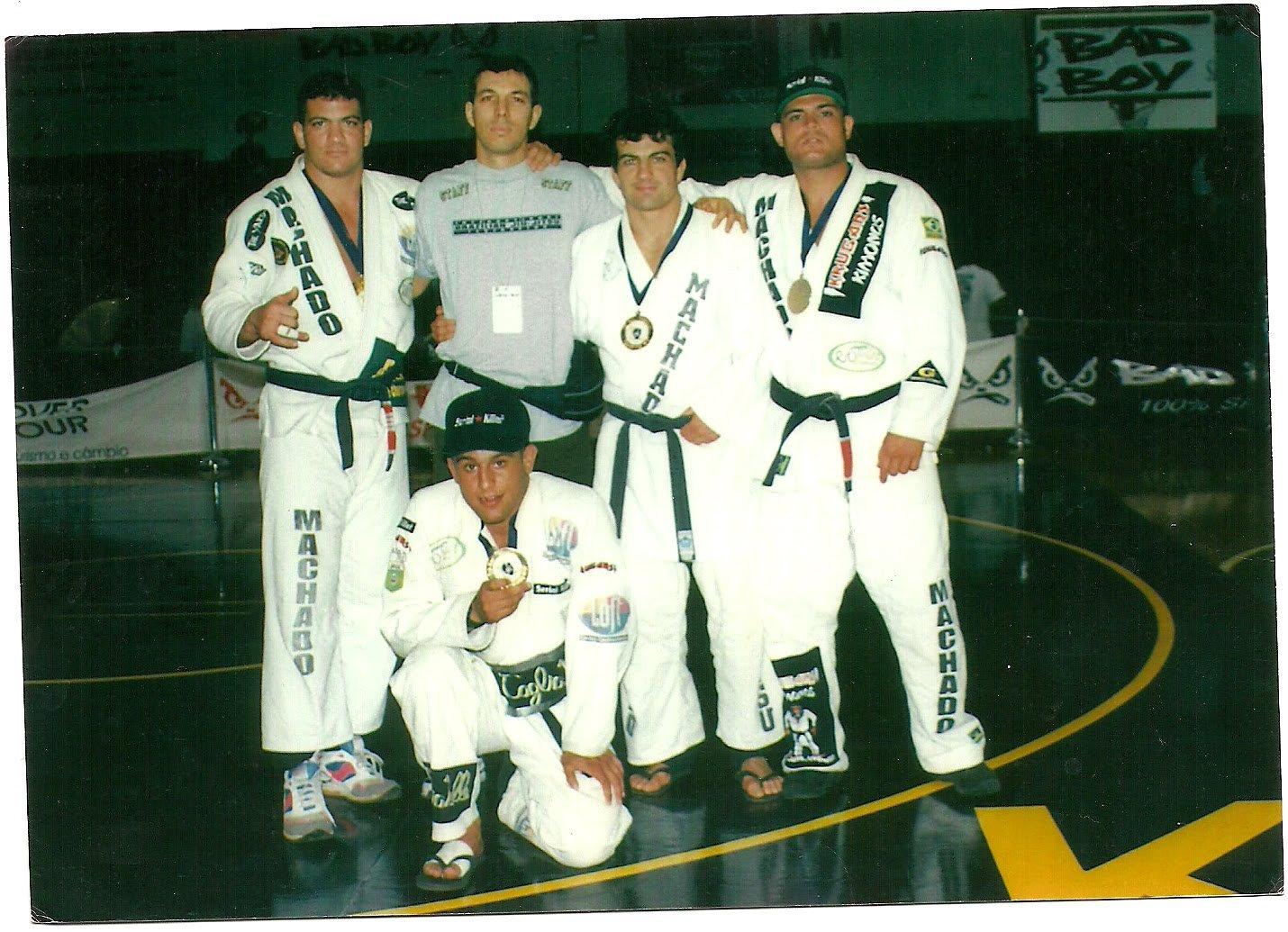 The Machados and Carlos Gracie Jr in Hawaii in 1997. Photo Rigan Machado