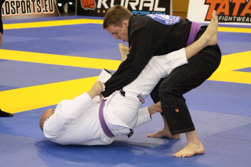 Dan Lewis in the black gi.