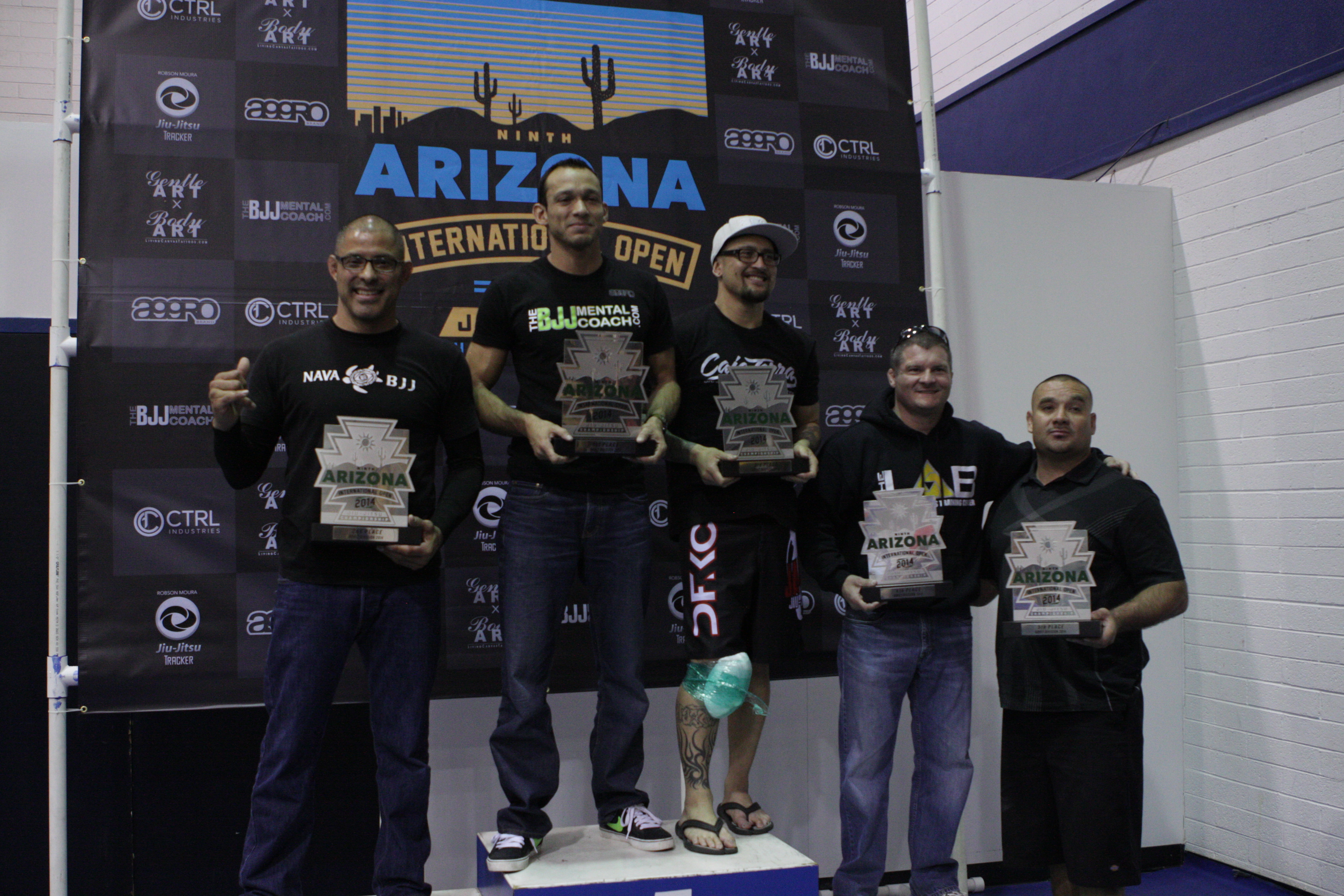 Teams on the podium. Photo: Personal Archive