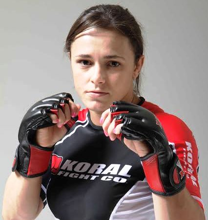 Michelle Nicolini venceu a segunda no MMA. Foto Koral