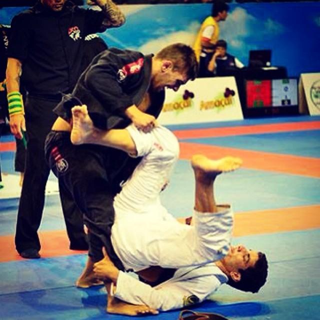 Patrick Gaudio em ação no Jiu-Jitsu. Foto: Arquivo Pessoal