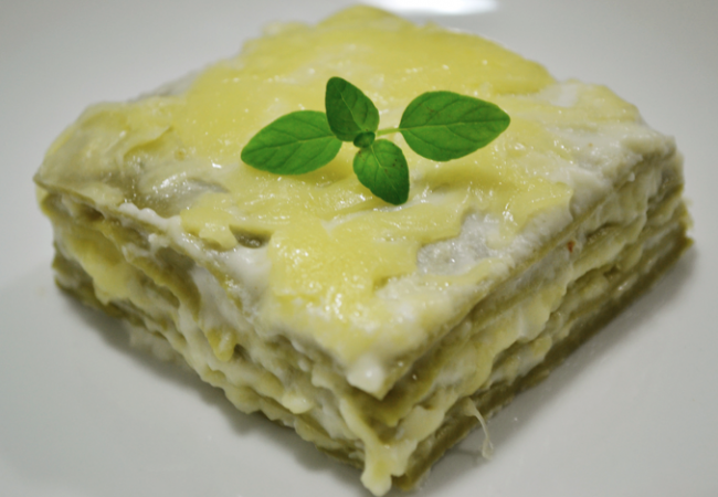 Gracie Diet: Learn how to make a nutritious green lasagna