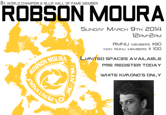 Catch a Robson Moura seminar at GMA MonsterGym in Rocklin, CA on Mar. 9