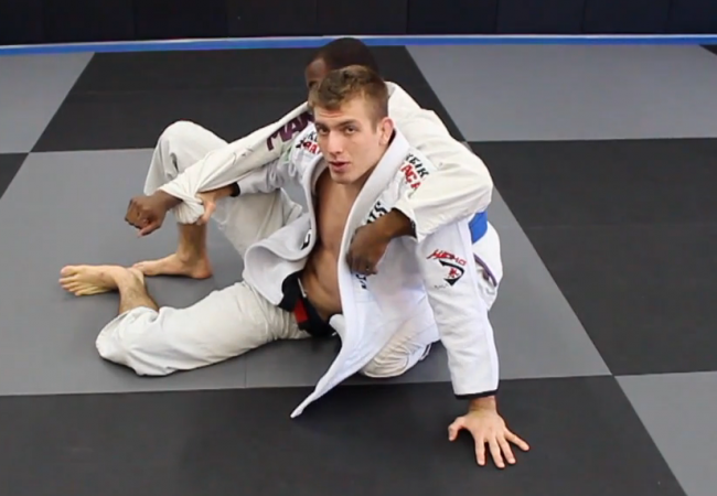 Pancake guard? Keenan Cornelius shows what to do when your legs are flattened