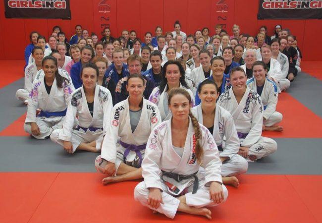 Sophia McDermott Drysdale leads another all-female open mat for 95 ladies in Australia