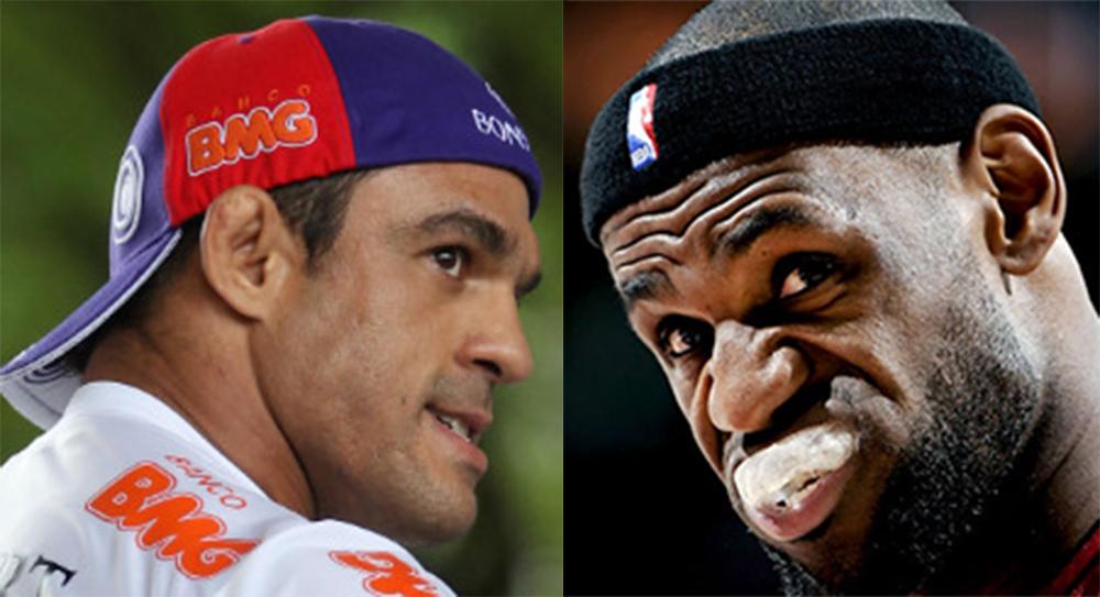 Belfort supera LeBron James em votação. Montagem em fotos de Inovafoto e Divulgação/NBA