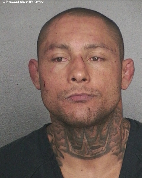 Foto de Thiago Silva após prisão na Flórida. Foto: Sheriff.org