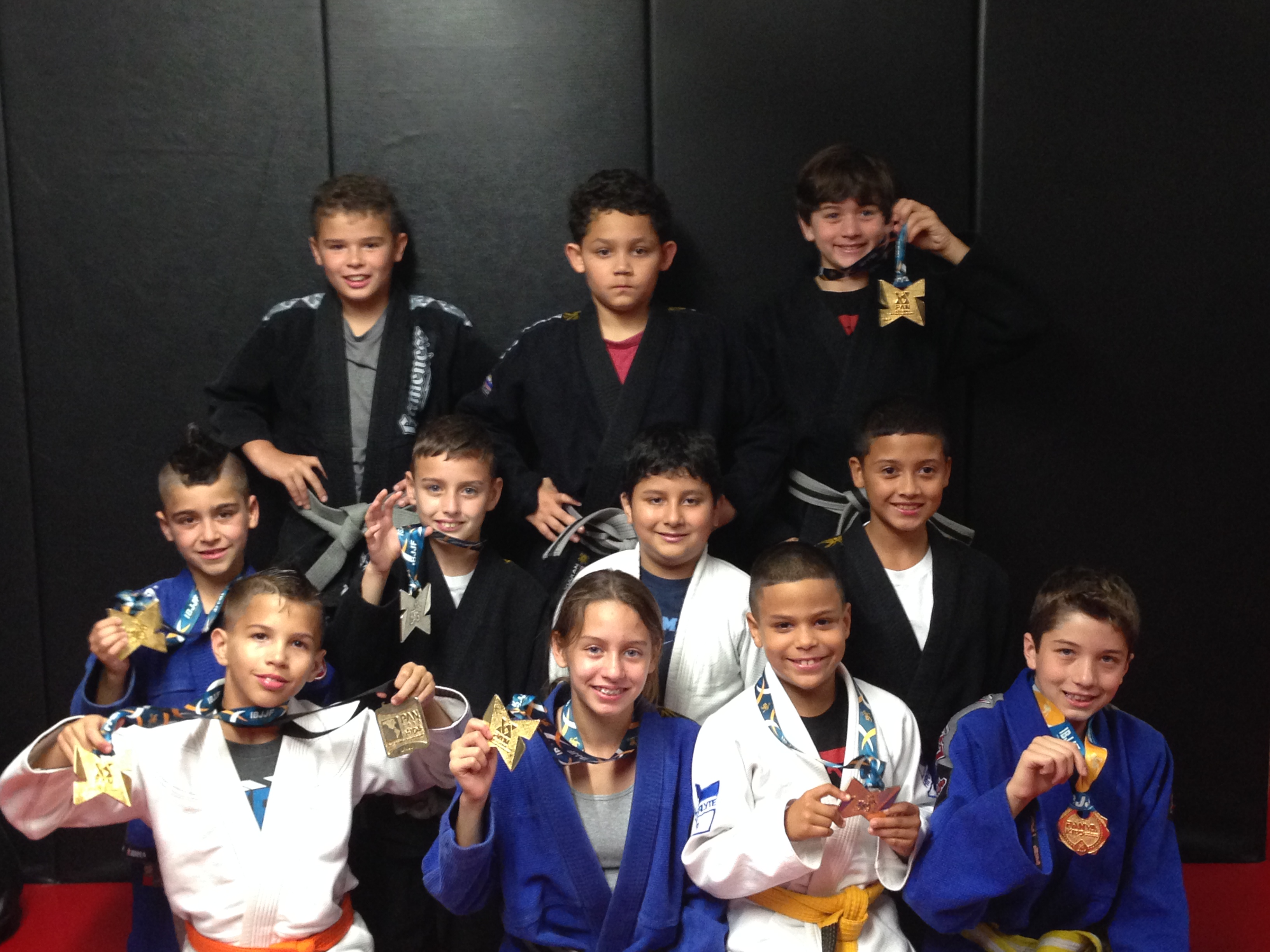 The Alliance Miami WMB kids team at the 2014 IBJJF Pan Kids. Photo: Personal Archive