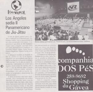 Uma reportagem de GRACIEMAG sobre o Pan de 1996. Foto: Arquivos GRACIEMAG