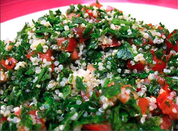 GRACIE DIET: Go Vegan with this Delicious Quinoa Tabbouleh