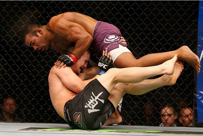 Trator em seu último combate no UFC. Foto: Josh Hedges/Zuffa LLC via Getty Images