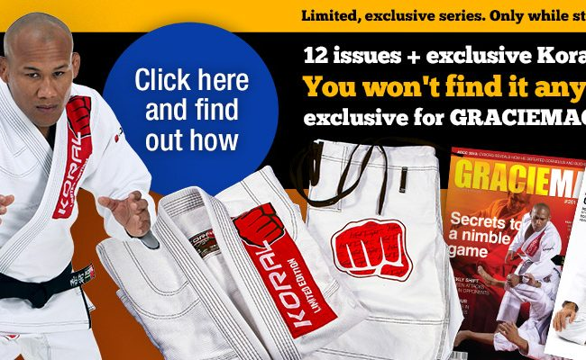 IT'S BACK! Subscribe to GRACIEMAG for 1 year and get a free Koral Gi