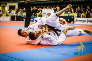 Christian Uflacker in the super-heavy division. Photo: IBJJF