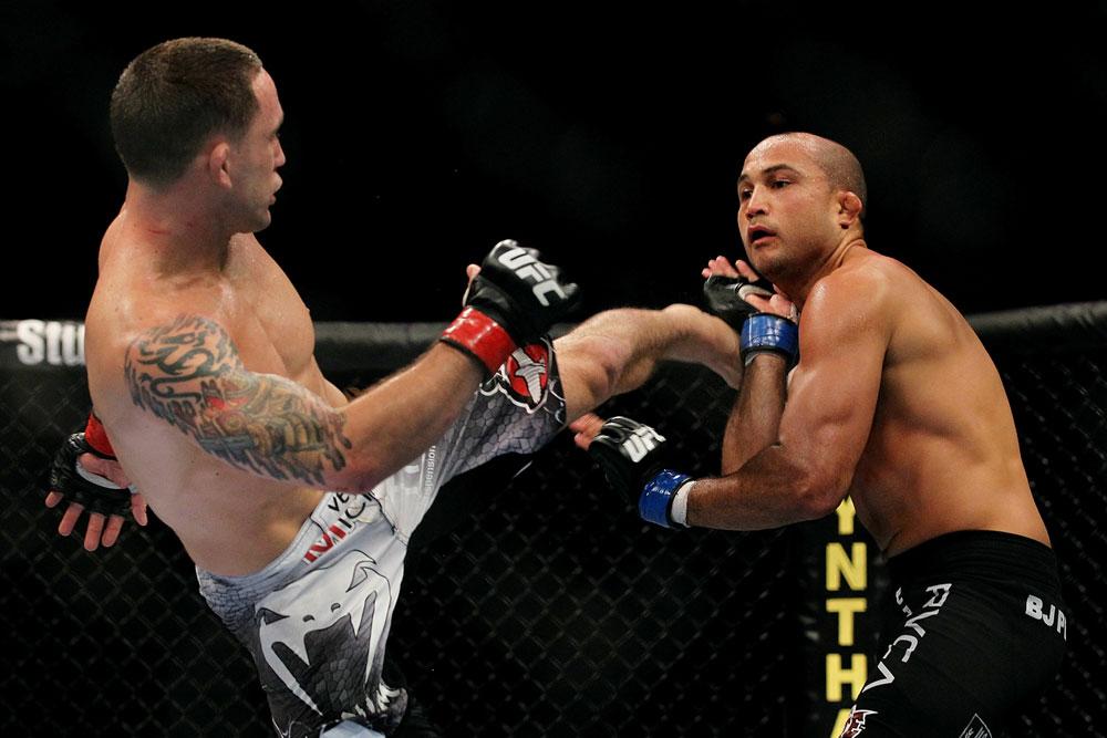 Edgar e Penn fazem terceiro duelo entre eles. Frankie se saiu melhor nos primeiros. Foto: UFC