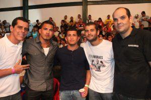 Phillip Lima, Anthony e Sergio Pettis, Diego Moraes e Tatá Duarte. Foto: Carol Correa/Divulgação