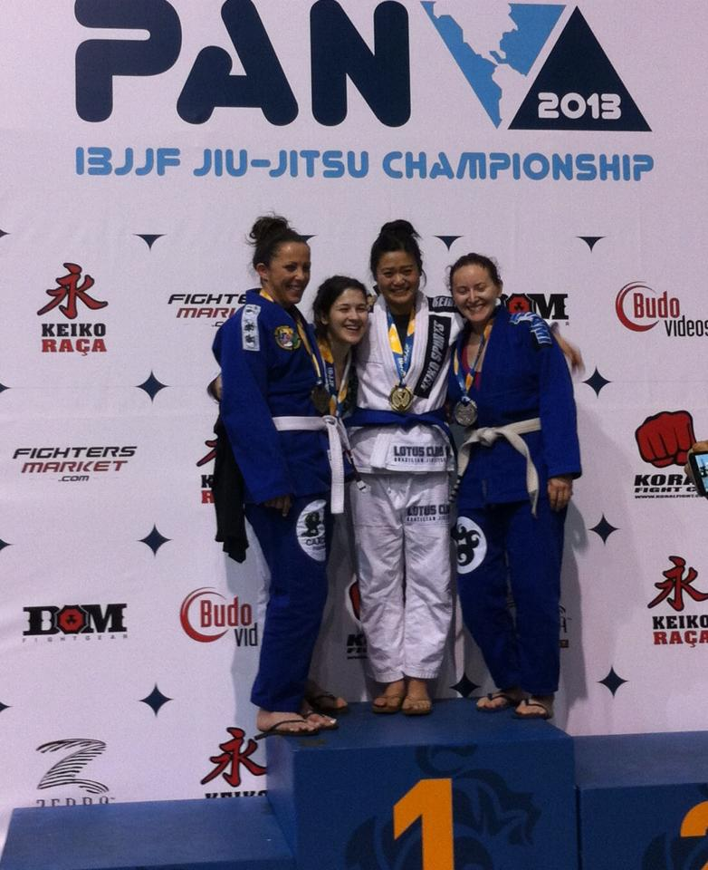 Nicholle placed second at the 2013 Pan American Championship as a white belt. Photo: Personal Archive
