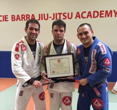 GMA Gracie Barra Santa Barbara promotes their first Chilean black belt