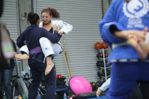One of the drills had each person jump guard on their partner. Photo: Erin Herle