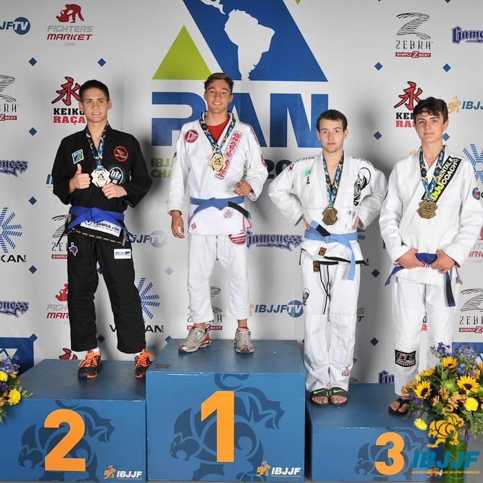 Lucas Rocha, campeão do absoluto juvenil 1. Foto: IBJJF