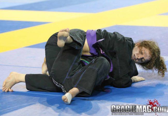 Maia Matalon reina no absoluto feminino faixa-roxa do Pan de Jiu-Jitsu