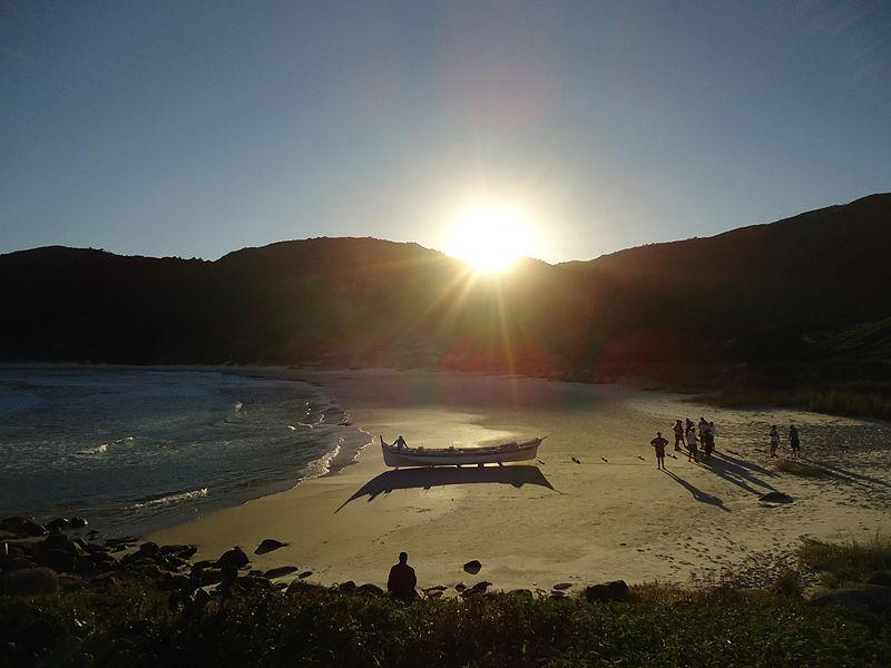 Por do sol em Floripa Foto Renan Capivara