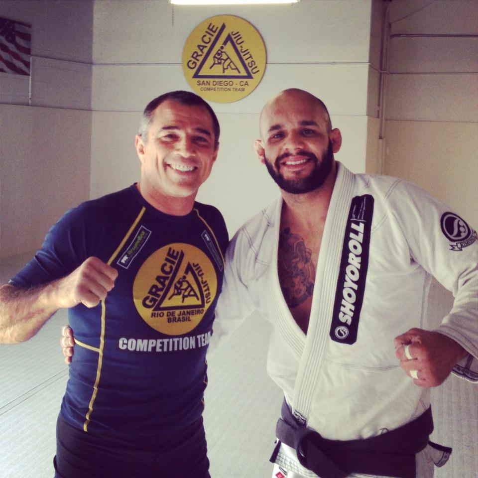 Royler Gracie e Johnny Faria após o treino. Foto: Arquivo Pessoal