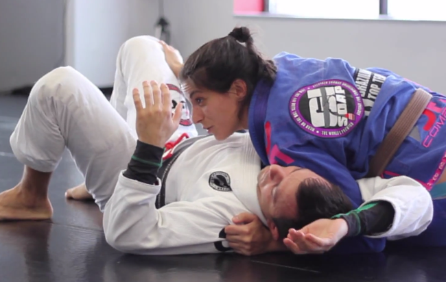 Nathalia Azoff of GMA BTT Boston teaches a sneaky choke from women's BJJ camp