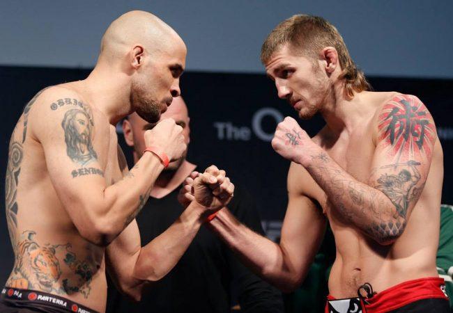 Trocação na 50/50? Reveja o duelo de Igor Araújo e Danny Mitchell no UFC