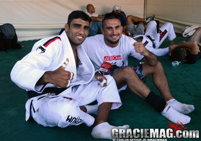 See what happens when Leandro Lo rolls with fellow world champion Daniel Moraes