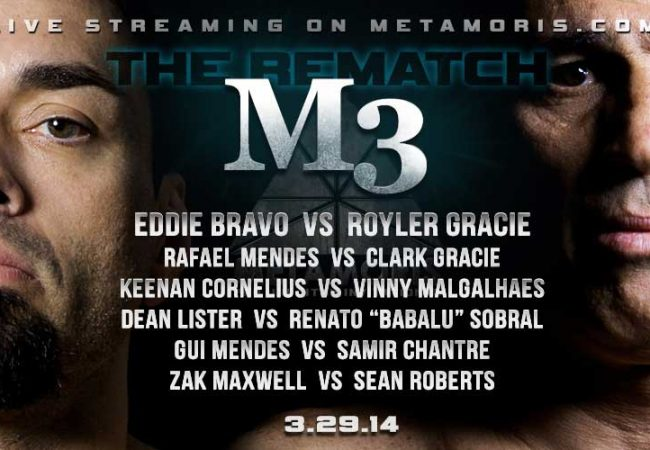 Metamoris 3: Royler Gracie vs. Eddie Bravo and more this Saturday