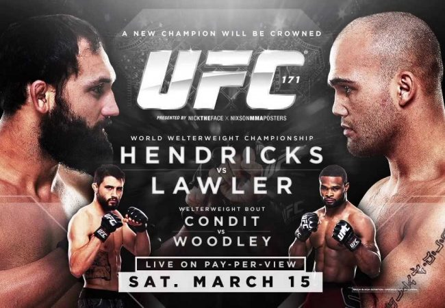 Watch the official weigh-in for UFC 171: Hendricks vs. Lawler (5PM/2PM ET/PT)