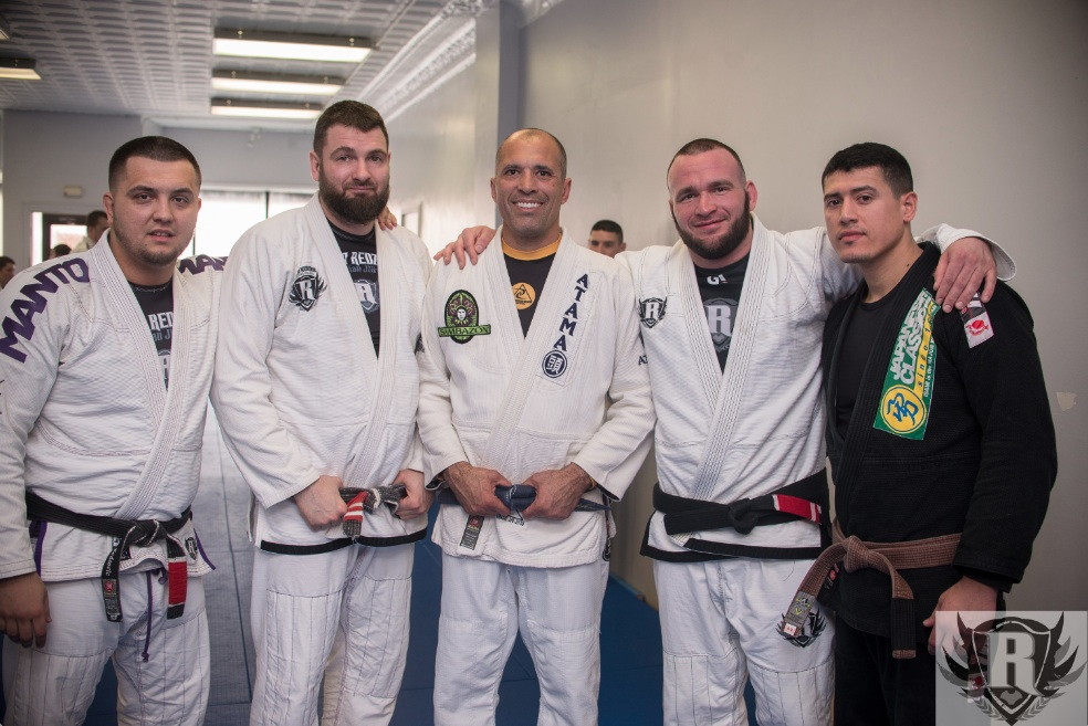 The Redzovic team with Royce Gracie. Photo: Personal Archive