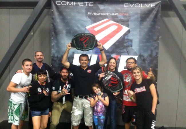 Cavalcanti Jiu-Jitsu Team of GMA Carlson Gracie Las Vegas wins the team trophy at FIVE