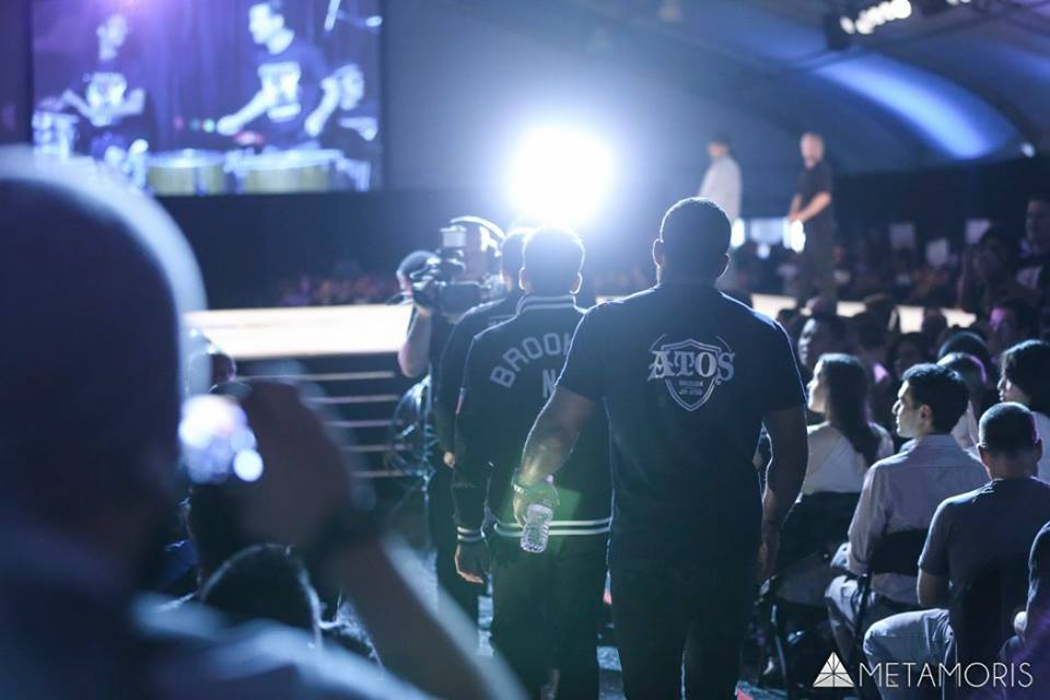 The Mendes brothers walk out for their matches at Metamoris 3. Photo: James Law