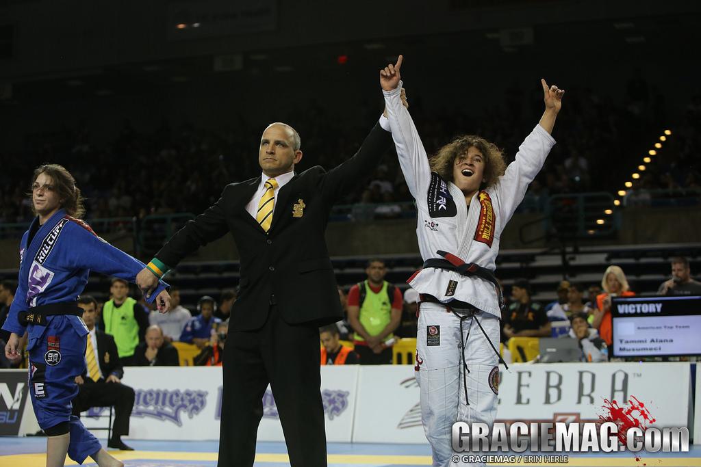 Tammi wins the 2014 Pan black belt title. Photo: Erin Herle