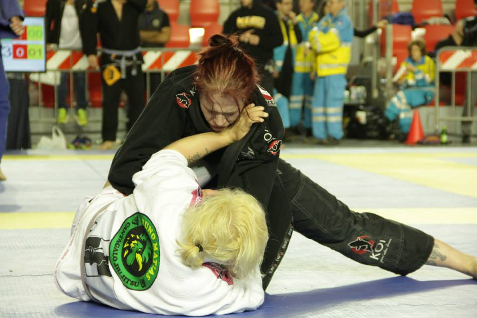 Klara Tibbling won the purple belt adult female open class. Photo: Pasando Guardia