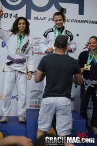 Maria Malyjasiak wins the absolute and gets promoted to brown belt. Photo: Erin Herle
