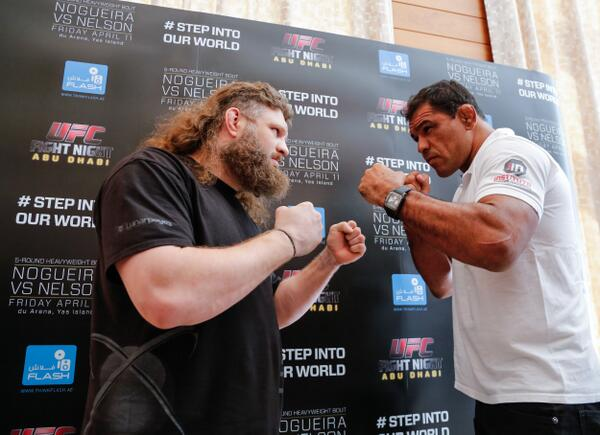 Nelson e Minotauro fazem o duelo principal do UFC em Abu Dhabi. Foto: Divulgação